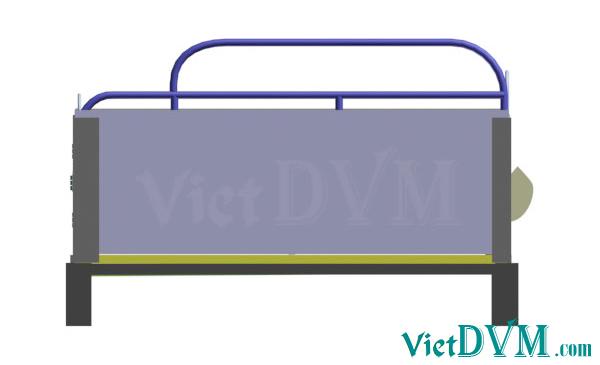 Mô hình 3d chuồng sàn cho heo nái đẻ kiểu có vách ngăn - bước 9